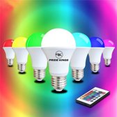 LED lamp RGB E27 4W met afstandsbediening | Pride Kings®