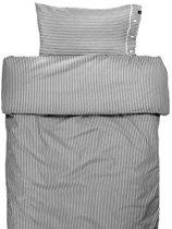Rindo dekbedovertrek stripe graphite - 220 x 240 cm