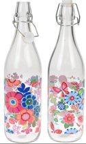 Fles glas met beugeldop Drinkflessen afsluitbaar