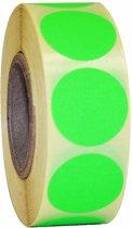 Fluor groen etiket 25mm