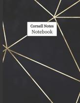 Cornell Notes Notebook: Cornell Ruled Paper - Note Taking System for School College University: 8.5'' x 11'' 108 Pages, Pretty Navy Lines