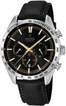 Festina F16844/3 Chronograaf - Horloge- Staal - Zilverkleurig - 44 mm