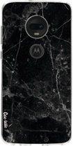 Casetastic Softcover Motorola Moto G7 / G7 Plus - Black Marble