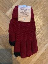 Touchscreen-Touch-Handschoenen-Zwart-One Size-Stretch-Mobiel-Unisex