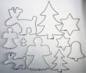 Cutting Designz Team Up... Christmas - theme cutter set (koekvormen)