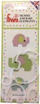 FMM Moeder en Baby Olifant Uitsteker Set/4