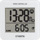 Cresta, BLA210WT Quartz Digitale Radiogestuurde Design Wekker (Wit)