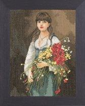 borduurpakket 38009 bloemenmeisje