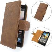 TCC PU Leder Hoesje Huawei Ascend G6 Book/Wallet Case/Cover Licht Bruin