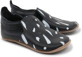 Bobux babyslofjes black white paint trims loafer - maat 22