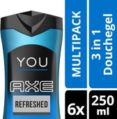 Axe You Refreshed - 6 x 250 ml - Douchegel - Voordeelverpakking