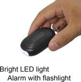 Persoonlijk alarm - 130 DB - zelfverdediging - LED lamp - LED noodsignaal - Sleutelhanger - 2-in-1 inclusief batterijen!!