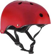 Skatehelm Essentials metal rood maat: 49-52cm