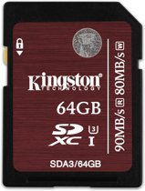 Kingston Technology SDXC UHS-I U3 64GB 64GB SDXC UHS Class 3 flashgeheugen