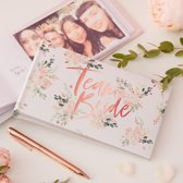 FOTOALBUM TEAM BRIDE HERINNERING VRIJGEZELLENFEEST | WIT - ROSEGOLD FOIL | FLORAL HEN PARTY | GINGER RAY