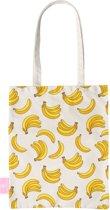 BEACHLANE - Katoenen tasje - Canvas Tote Bag Shopper - Bananas / Banaan / Bananen print - Schoudertas / Boodschappen tas