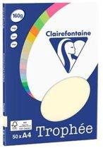 Clairefontaine Trophée - Kopieerpapier- A4 160 gram - Ivoor - 50 vellen