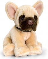 Keel Toys pluche Franse bulldog knuffel 35 cm - knuffeldier / knuffels