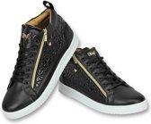Heren Schoenen - Heren Sneaker Bee Black Gold - CMS98 - Maten:
