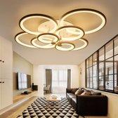 28W Creative ronde moderne kunst LED plafond lamp  traploos dimmen + afstandsbediening  4 hoofden