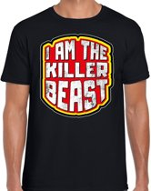 Halloween -  Halloween I am the killer beast verkleed t-shirt zwart voor heren - horror shirt / kleding / kostuum M
