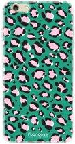 Iphone 6 Plus - TPU Soft Case - Back Cover telefoonhoesje - Leopard / Groen