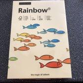 Rainbow Color paper zacht geel 120gram kl12