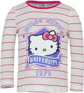 Hello Kitty t-shirt wit met roze 116