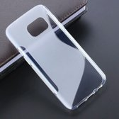 S Line TPU Siliconen hoesje case Wit transparant voor Samsung Galaxy S7 Edge