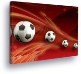 Footballs Canvas Print 80cm x 60cm