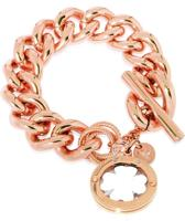 TOV Essentials 4leaf Bi-Colour Trinity Bracelet - Armband - Rosé/Zilver - 22 cm