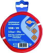 PROFILE installatiedraad VOB (België) VD (Nederland) - 2,5mm² - rood - 25 meter