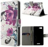 Lotus Flower wallet hoesje Sony Xperia E3