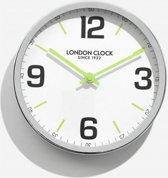 London clock Schoolklok - Zest- Chroom
