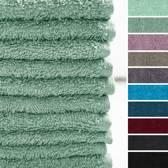 Lumaland - Handdoekje - Set van 10 washandjes - 100% katoen - 30x30cm - Meergroen