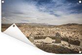 Uitzicht op de stad Arequipa bij de Colca Canyon in het zuiden van Peru Tuinposter 180x120 cm - Tuindoek / Buitencanvas / Schilderijen voor buiten (tuin decoratie) XXL / Groot formaat!