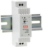 Din-rail netvoeding 12 V/DC 1.25 A voor WiFi Video Intercom WiFi-ST00