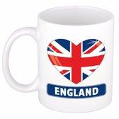 Hartje Engeland mok / beker 300 ml
