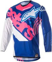 Alpinestars Kinder Crossshirt Techstar Venom Blue/Fluor Pink/White-XL