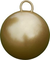 Skippybal 50 cm Goud met Glitters