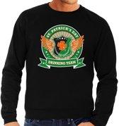 Zwarte St. Patricks day drinking team sweater heren S