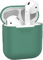 Siliconen Bescherm Hoesje voor Apple AirPods Case - Midnight Green