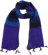 MoreThanHip Yaku - 'yakwol' sjaal - paars/blauw gestreept