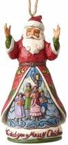 Jim Shore: Wens je een vrolijke kerstman (hangend ornament) Beelden & Figuren