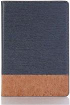 Shop4 - Huawei MediaPad T5 10 Hoes - Book Cover Denim en Leer Donker Blauw