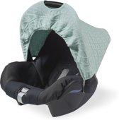 Jollein Diamond Knit - Zonnekap autostoel - Vintage Groen
