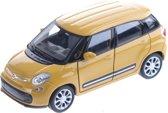 Welly Miniatuur Fiat 500l Geel 11 Cm