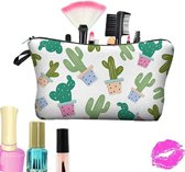 Cactus make-up tas - Opberg tas met rits
