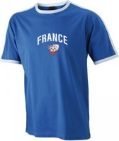 Blauw Frankrijk shirt voetbal volwassenen M