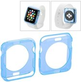 Apple Watch 42mm - hoes cover case - TPU - Transparant - Blauw